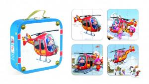 Puzzle helikopter w walizce